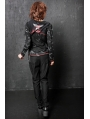 Black Crossbones Pattern Punk T-Shirt for Women