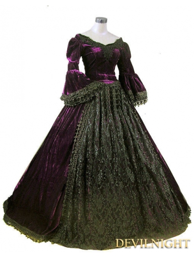 black victorian ball gown - photo #13