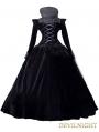 Black Velvet and Satin Victorian Queen Costume