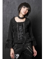 Black/White Gothic Lolita Blouse for Women
