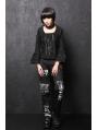 Black/White Gothic Lolita Blouse for Women