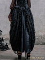 Black Lace Gothic Long Skirt