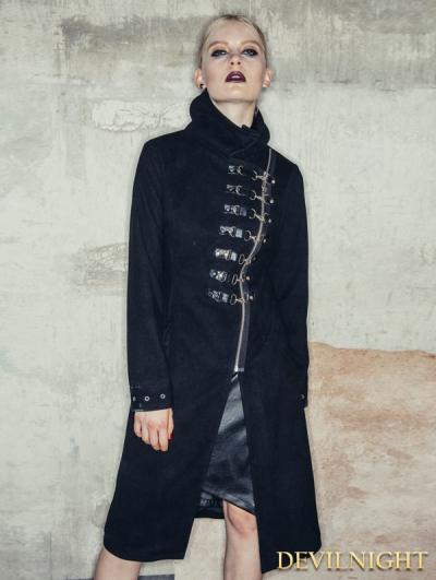 Black Gothic Punk Jacket for Women