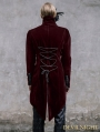 Wine Red Vintage Gothic Swallow Tail Jacket for Men