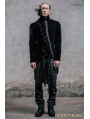 Black Vintage Gothic Swallow Tail Jacket for Men