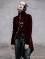Wine Red  Vintage Gothic Swallow Tail Jacket for Women