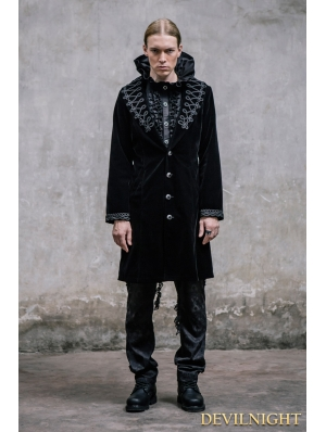 Black Vintage Gothic Jacket for Men