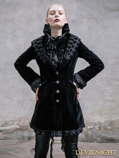 Wine Red Vintage Gothic Jacket for Women