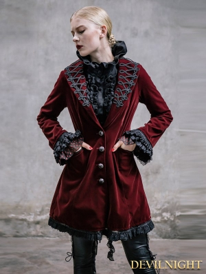 Black Vintage Gothic Jacket for Women