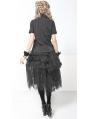 Black and White Romantic Gothic Skirt