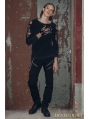 Black Long Sleeves Gothic Punk T-Shirt for Men