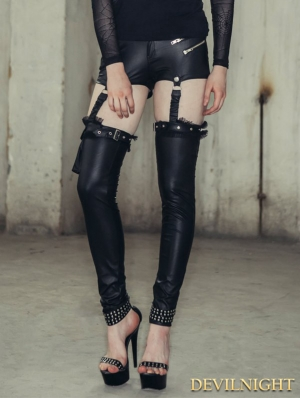 Black Gothic Two Wear Legging for Women