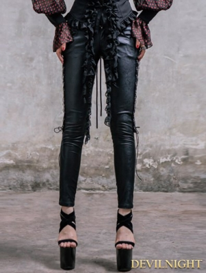 Black Gothic Lace Legging for Women