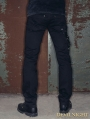 Black Zipper Chain Gothic Punk Pants for Men