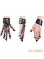 Black Gothic Punk Skeleton Wrist Strap