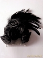 Black Gothic Feather Headdress