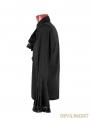 Black Trumpet Sleeves Gothic Blouse for Men