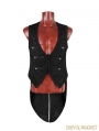 Black Gothic Swallow Tail Vest for Men