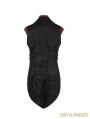 Black Printing Pattern Gothic Vest for Men