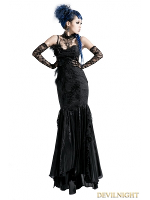 Black Gothic Sexy Fishtail Dress