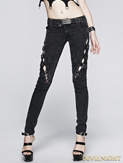 Vintage Gothic Punk Jeans for Women