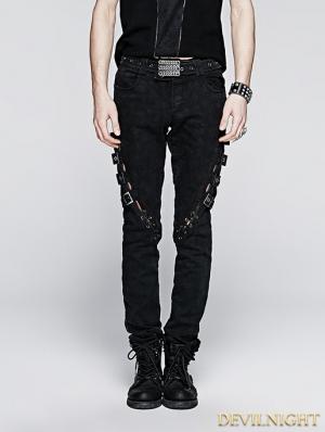 Vintage Gothic Punk Jeans for Men