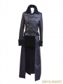 Black Double-Breasted Gothic Long Jacket for Men