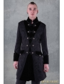 Black Pattern Winter Gothic Coat for Men