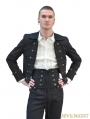 Black Double-Breasted Gothic Short Jacket for Men
