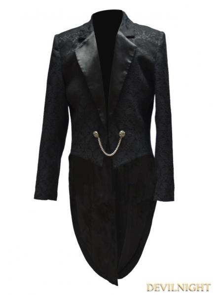 Black Gothic Swallow Tail Jacket For Men Devilnight Co Uk