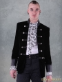 Black Double-Breasted Gothic Jacket for Men