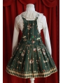 Cute Printed Pattern Sweet Rococo Apron Dress