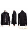 Black Long Sleeves Gothic Punk Blouse for Men