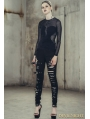 Black Denim Gothic Punk Pants for Women