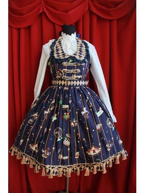 Sleeveless Cute Printed Pattern Sweet Rococo Dress