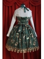 Sleeveless Cute Printed Pattern Sweet Rococo Dress