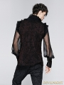 Black Gorgeous High Collar Gothic Blouse for Men