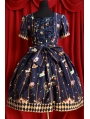 Short Sleeves Printed Pattern Sweet Rococo Dress