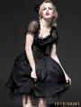 Black Gothic Two-Piece Corset Ballet Dress