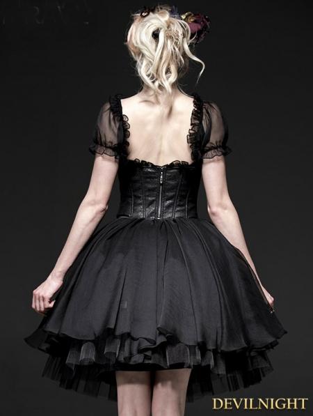 Black Gothic Two Piece Corset Ballet Dress Devilnight Co Uk