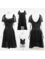 Black Gothic Two-Piece Corset Ballet Dress