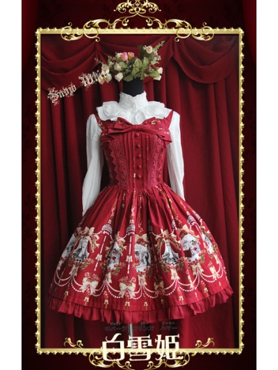 Cute Printed Pattern Sweet Rococo Dress