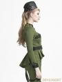Green Gothic Uniform Style Shirt for Women