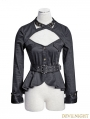 Black Gothic Uniform Style Shirt for Women