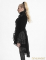 Black Gothic Forked Tail Coat for Women