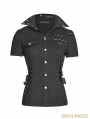 Black Two-Wearing Gothic Punk Shirt for Women