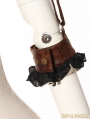 Brown and Black Steampunk Top for Women