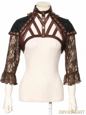 Brown Steampunk Shrug