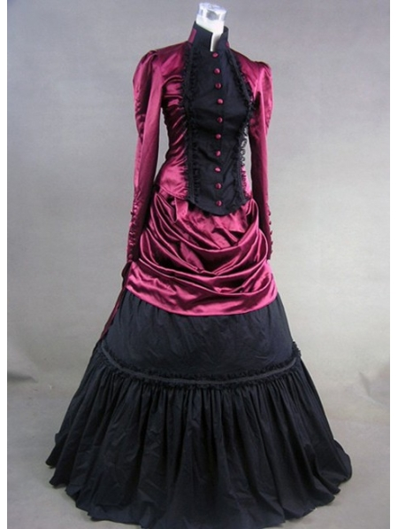 Red and Black Masquerade Gothic Ball Gowns - Devilnight.co.uk