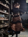 Brown High-Low Lace Steampunk Skirt